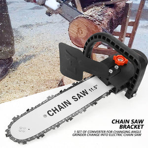 ANGLE GRINDER HOLDER + FREE GRINDER-CHAINSAW ATTACHMENT