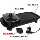 2 in 1 Electric Samgyupsal Grill with Hotpot