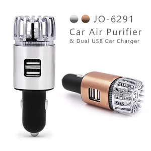 Dual USB Car Air Purifier 2 In 1 Fresh Portable Air Anion Purifier