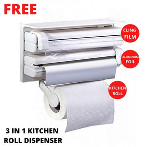 Heavy Duty Vacuum Sealer WITH FREE 15 PCS VACUUM BAGS AND 3 IN 1 KITCHEN ROLL DISPENSER