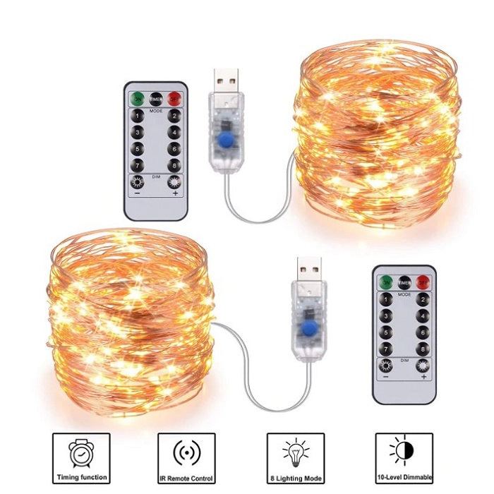 3M Fairy Copper String Christmas USB Lights with Remote (BUY 1 GET 1)