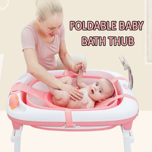 FOLDABLE BABY BATHTUB WITH BABY ANTI SLIP MAT