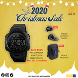 Waterproof Smart Wristwatch (GET FREE Tactical Pouch Bag and Wireless Bluetooth Earbuds)