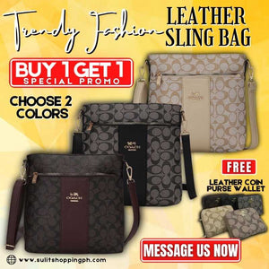 "(Buy 1 Get 1 Promo) Authentic Coach Leather Sling Bag ""NEW DESIGN"""
