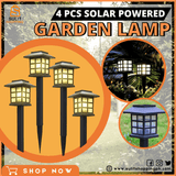 4PCS LED Solar Garden Lamp