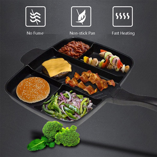 5 in 1 Non-Stick Grill Pan