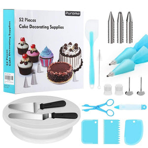 52pcs Cake Decorating Supplies Set + FREE Electric Hand Mixer