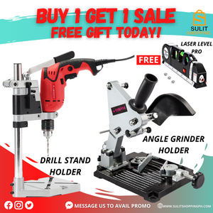 ANGLE GRINDER HOLDER FREE DRILL STAND and LASER LEVEL PRO