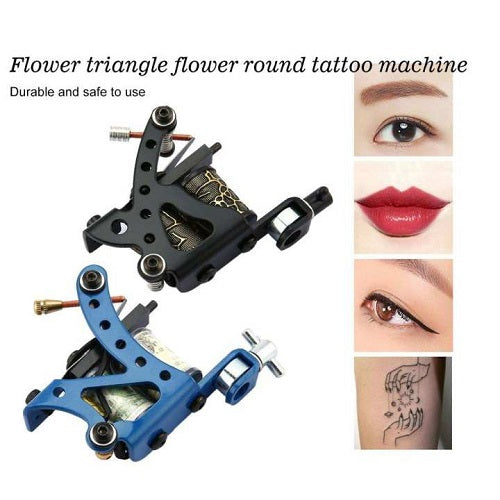 Beginner-Professional Tattoo Kit (2 MACHINE GUN, 6 INK COLORS AND NEEDLE GRIP)