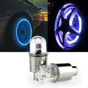 2Pcs Tire Valve Cap Light (Bike, Car, Motorcycle Wheel LED Light)