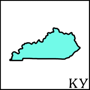 Kentucky craft beer soaps KY Kentucky state outline