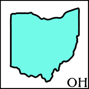ohio state outline Ohio postal code OH artisan beer soap made with ohio craft beer from ohio breweries and cideries
