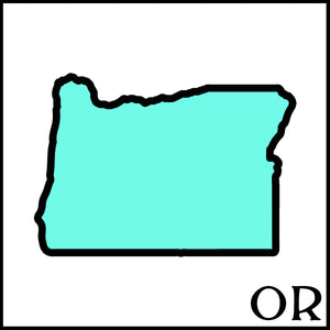 Oregon state outline OR postal abbreviation Handmade beer soap made with craft beer from Oregon craft breweries and cideries