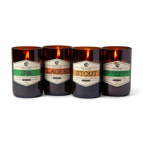 craft beer candles by Craig Davies via UncommonGoods UncommonGoods.com craft beer candles mothers day gift ideas for beer loving mom