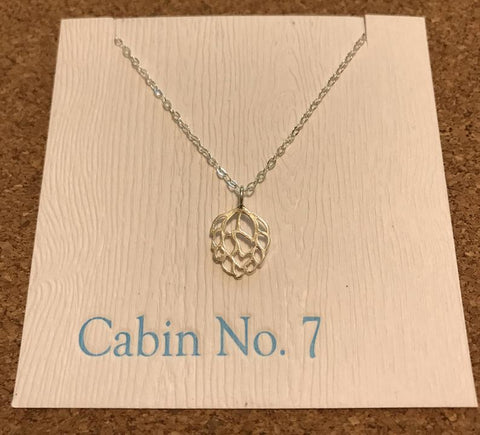 hops necklace handmade beer jewelry for her cabin no. 7 silver beer necklace hops necklace