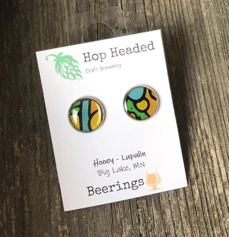 upcycled beer can earrings hop headed craft brewelry etsy handmade beer jewelry for her