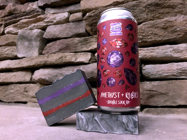 Amethyst and Rubies Beer Soap - Spunk N Disorderly Soaps