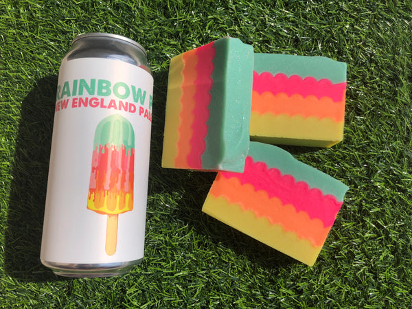 Rainbow Pop Beer Soap - Spunk N Disorderly Soaps