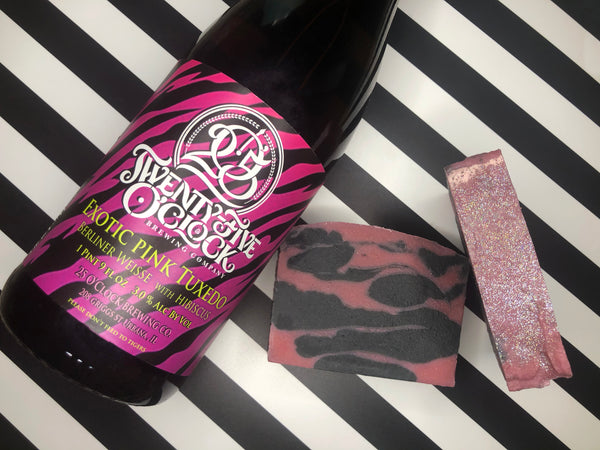 Exotic Pink Tuxedo Beer Soap - Spunk N Disorderly Soaps