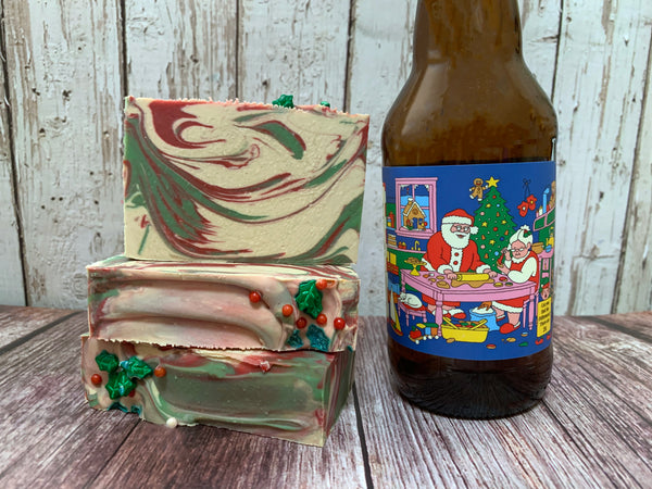 Christmas Bomb! Beer Soap - Spunk N Disorderly Soaps