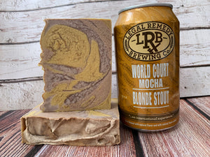coffee craft beer soap made with world court mocha blonde stout from legal remedy brewing co. rock hill South Carolina craft brewery spunkndisorderly