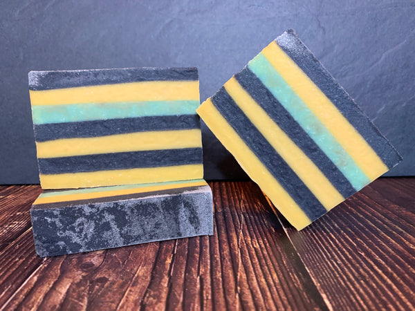 craft beer soap handmade in texas with texas craft beer soap for him beer soap with activated charcoal striped soap