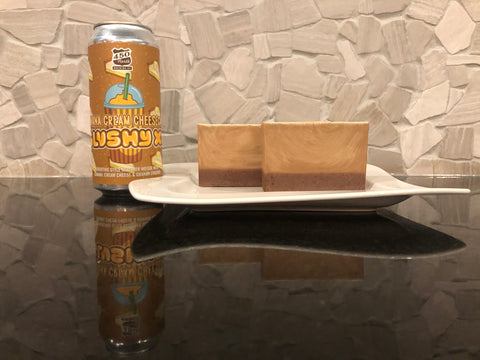 craft beer soap handmade with banana cream cheesecake slushy xl beer from 450 north brewing company pie soap with apricot seed powder crust spunkndisorderly