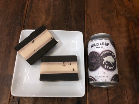 Cookies and Cream Stout Beer Soap - Spunk N Disorderly Soaps