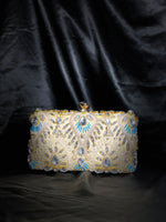 Beige Evening Clutch with Crystals