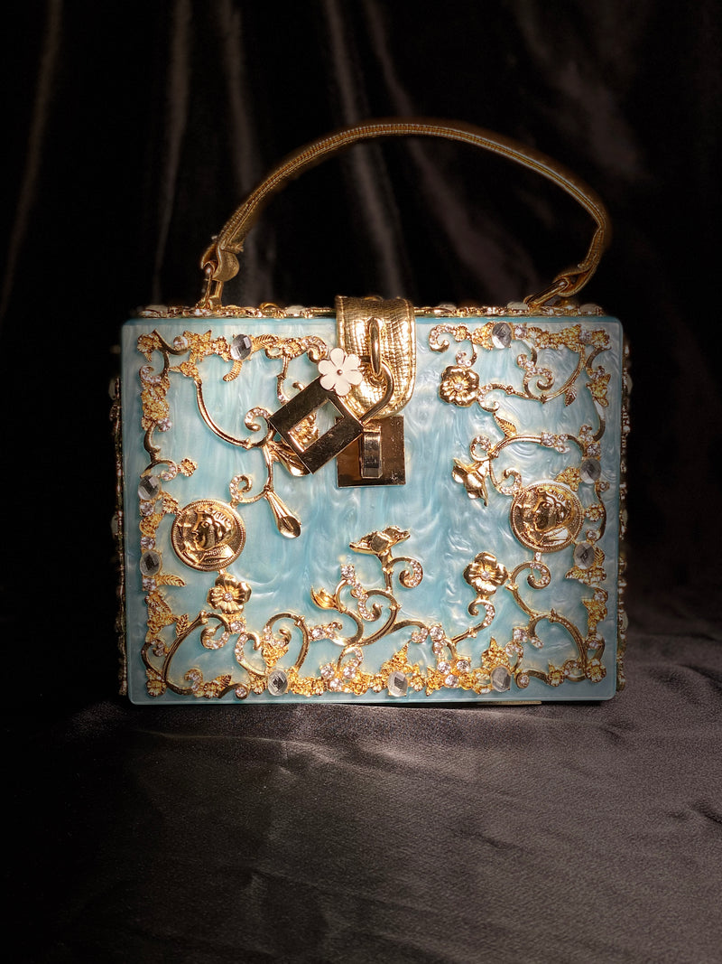 Blue and Gold Bag