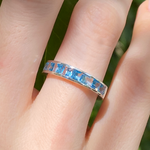 Channel Set Topaz Ring