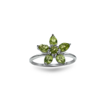 Peridot Flower Ring