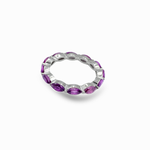 Marquise Cut Rhodolite Eternity Band