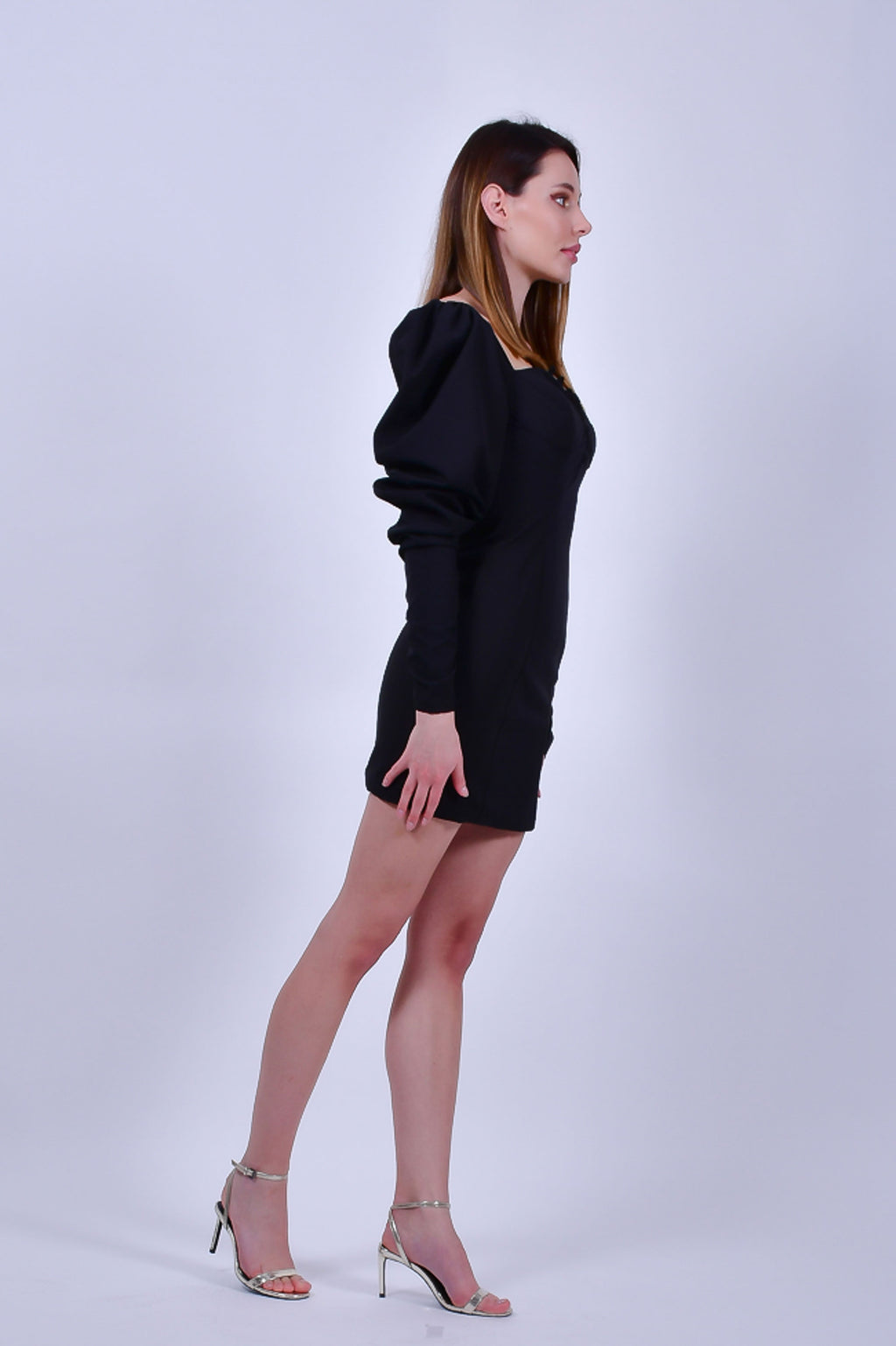 Black Bodycon with Long Sleeves