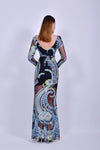 Long Sleeve Multicolored Maxi Dress