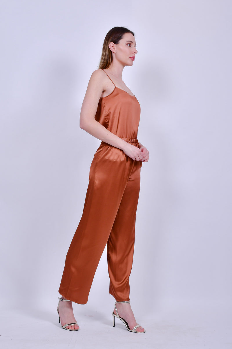 Bronze Silk Camisole and Pants