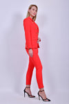 Red Jacket with Pants Set