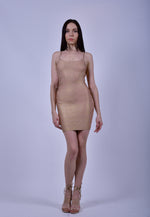 Rose Gold Bandage Low Back Mini Dress