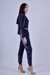 Gray Velour 3 Piece Track Suit