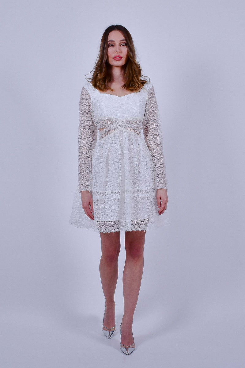 White Lace Dress Mini Dress