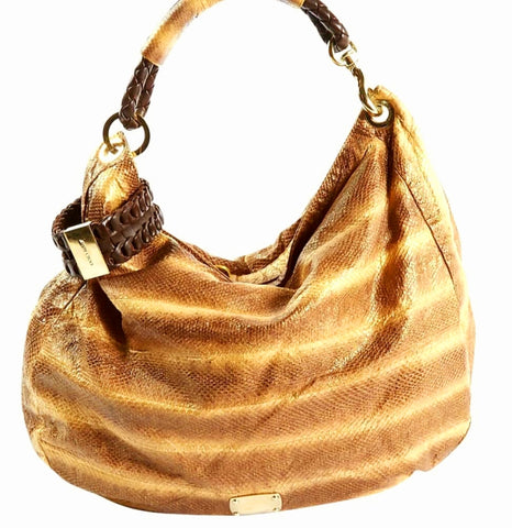 Jimmy Choo Sky Large Genuine Watersnake Hobo Shoulder Bag