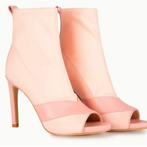 LIUJO Open toe ankle boots