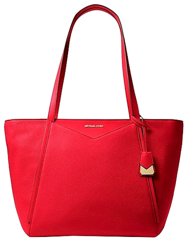 Michael Kors Red Whitney Large Tote