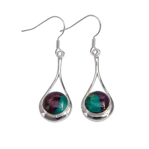 Heather Gem Braon Silver Plated Heathergems Drop Earrings.