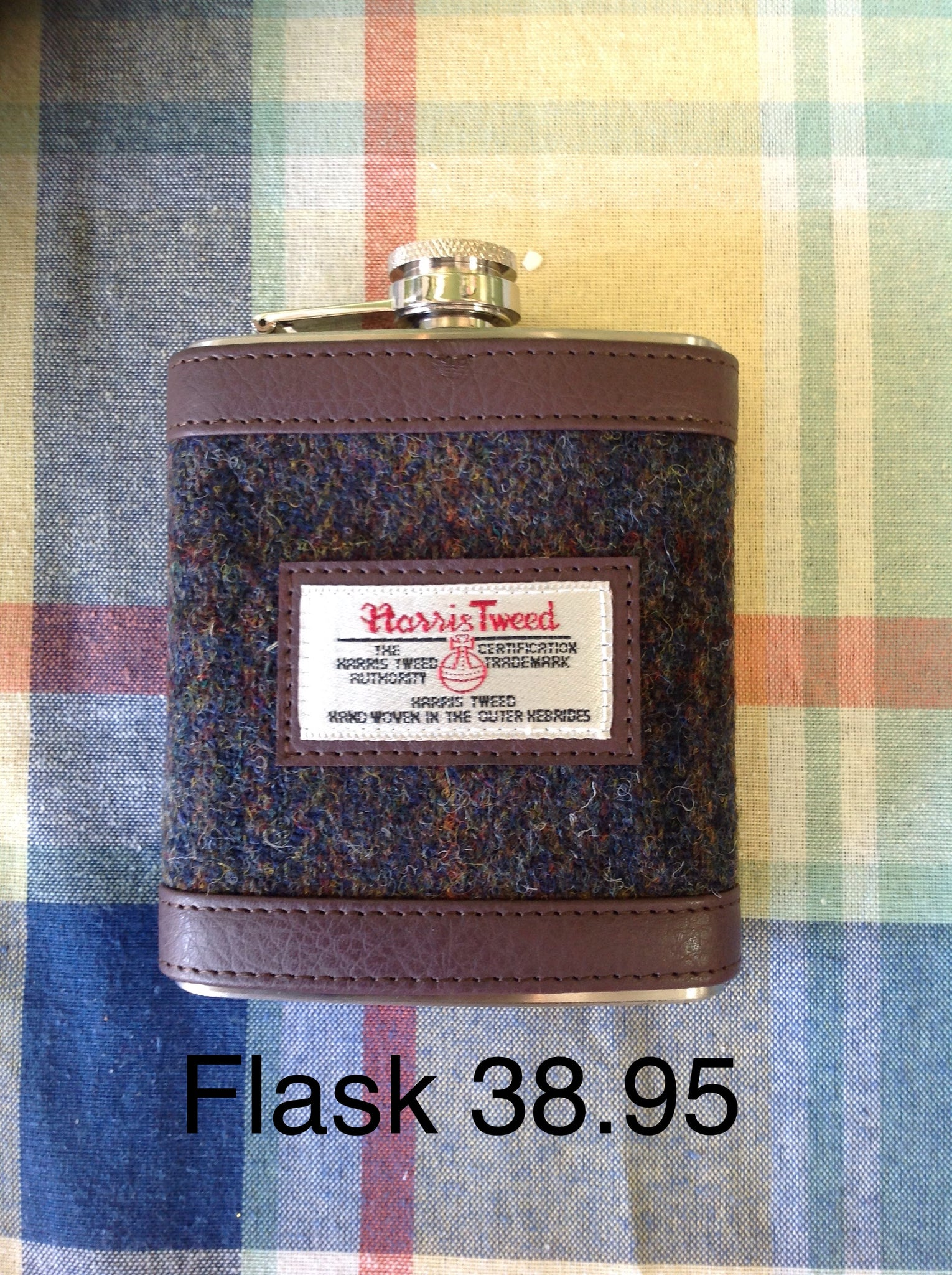 Flask with Harris Tweed wrap