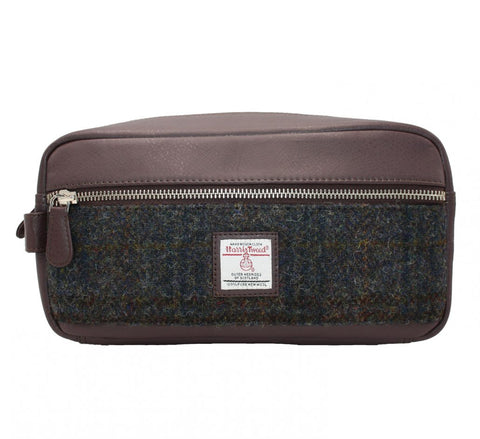 Men's Harris Tweed Wash Bags