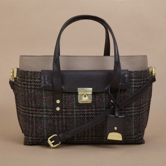Harris Tweed Lock Tote Bag