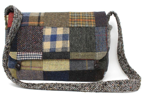 Hanna Hats Patchwork Tweed Satchel Bag