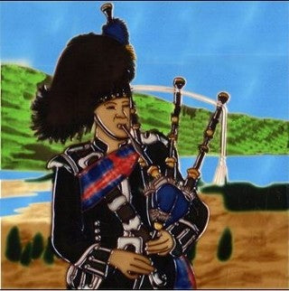 Skye Tiles, Scottish Piper