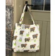 Chloe Gardner, Large Canvas Bag, Cow and Thistle